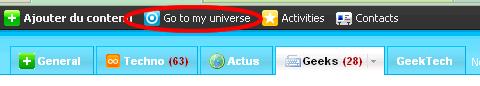 Go to universes